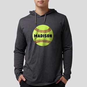 Softball Personalized Mens Hooded Shirt
