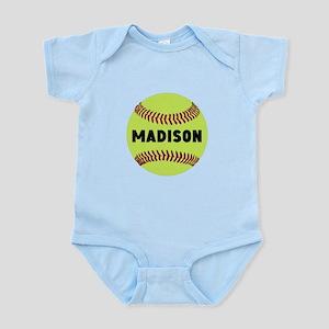 Softball Personalized Infant Bodysuit