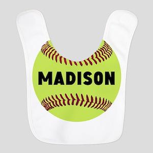 Softball Personalized Polyester Baby Bib