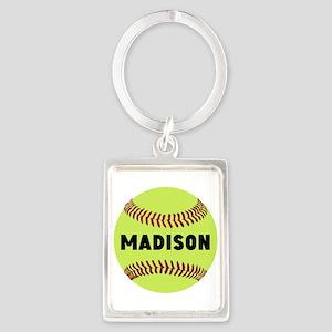 Softball Personalized Portrait Keychain