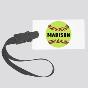 Softball Personalized Large Luggage Tag