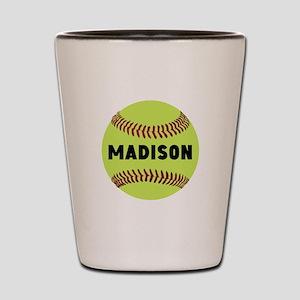 Softball Personalized Shot Glass