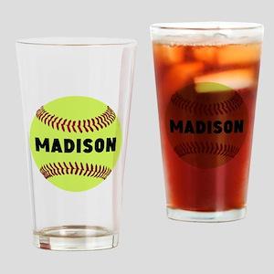 Softball Personalized Drinking Glass