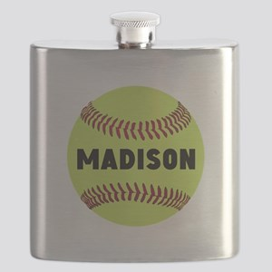 Softball Personalized Flask