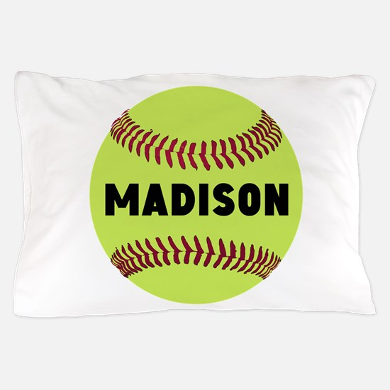 Softball Personalized Pillow Case