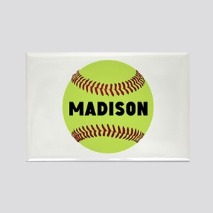 Softball Personalized Rectangle Magnet