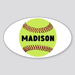 Softball Personalized Sticker (Oval)