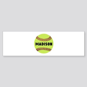 Softball Personalized Sticker (Bumper)