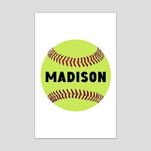 Softball Personalized Mini Poster Print