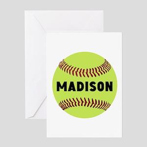 Softball Personalized Greeting Card