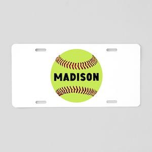 Softball Personalized Aluminum License Plate