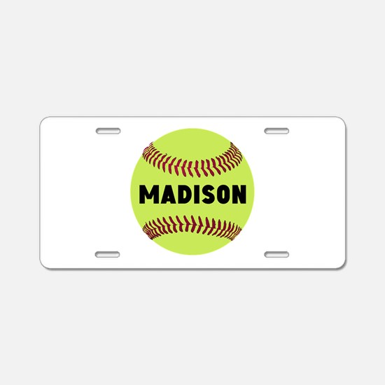 Softball Personalized Aluminum License Plate