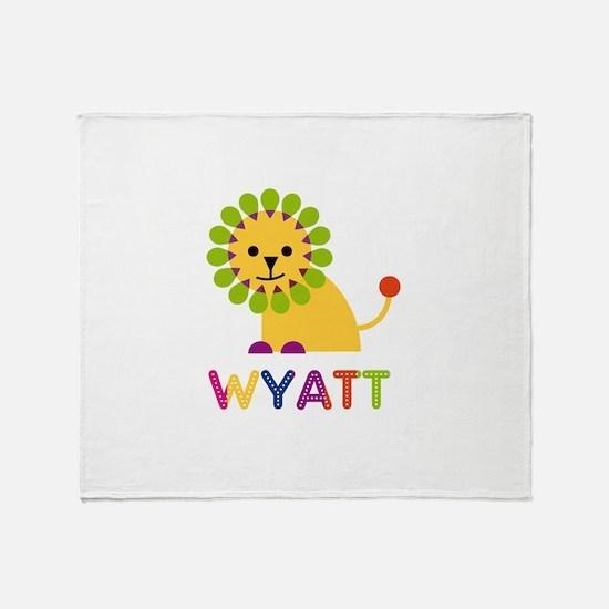 Wyatt Loves Lions Throw Blanket