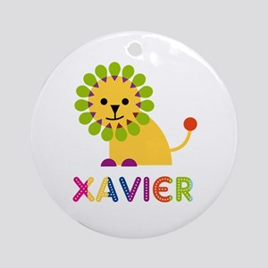 Xavier Loves Lions Ornament (Round)
