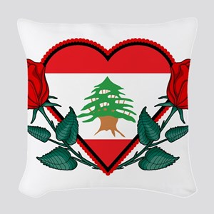 Heart Lebanon Woven Throw Pillow
