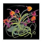 Atom Flowers Tile Coaster