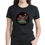 Atom Flowers Women's Dark T-Shirt