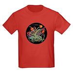 Atom Flowers Kids Dark T-Shirt