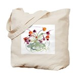 Atom Flowers Tote Bag