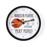 """Picky"" Mandolinist Wall Clock"