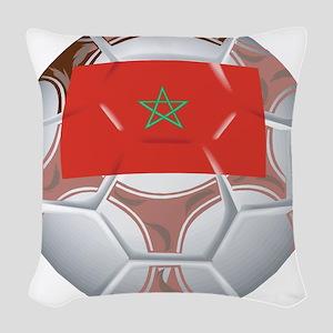 Morocco Soccer Woven Throw Pillow