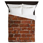 Red Brick Wall Queen Duvet