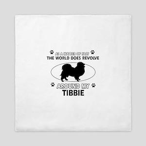 Tibbie dog funny designs Queen Duvet