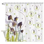 Atom Flowers #2 Shower Curtain