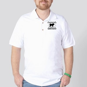 Tibetan Mastiff dog funny designs Golf Shirt
