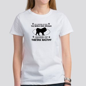 Tibetan Mastiff dog funny designs Women's T-Shirt