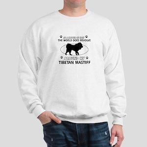 Tibetan Mastiff dog funny designs Sweatshirt