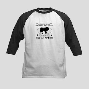 Tibetan Mastiff dog funny designs Kids Baseball Je