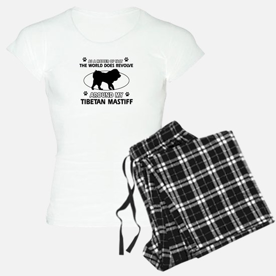 Tibetan Mastiff dog funny designs Pajamas