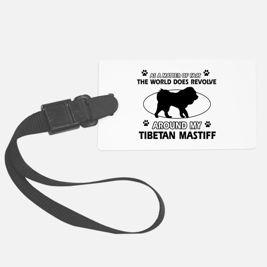 Tibetan Mastiff dog funny designs Luggage Tag
