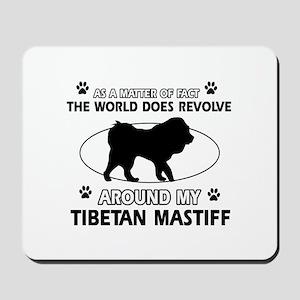 Tibetan Mastiff dog funny designs Mousepad