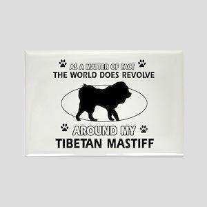 Tibetan Mastiff dog funny designs Rectangle Magnet