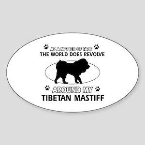 Tibetan Mastiff dog funny designs Sticker (Oval)