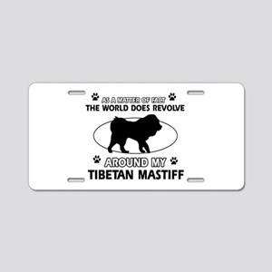 Tibetan Mastiff dog funny designs Aluminum License