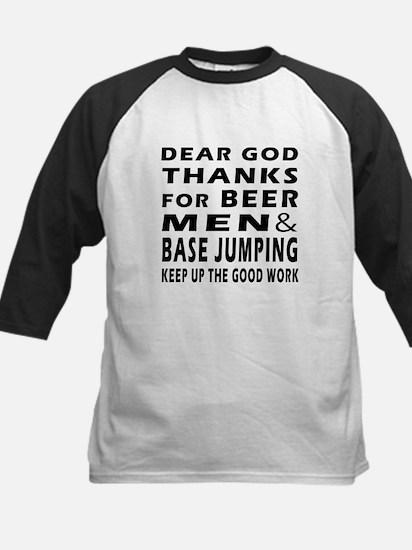 Beer Men and Base Jumping Kids Baseball Jersey