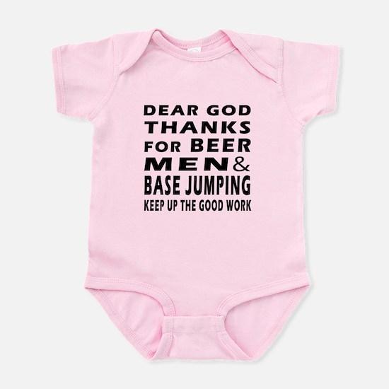 Beer Men and Base Jumping Infant Bodysuit