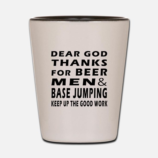Beer Men and Base Jumping Shot Glass