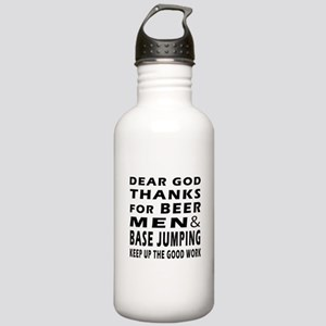 Beer Men and Base Jumping Stainless Water Bottle 1