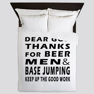 Beer Men and Base Jumping Queen Duvet
