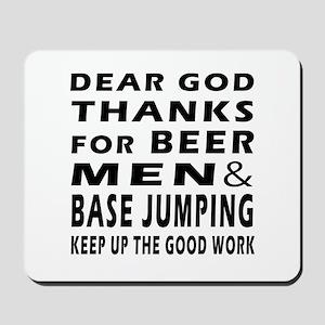 Beer Men and Base Jumping Mousepad