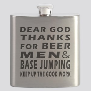 Beer Men and Base Jumping Flask