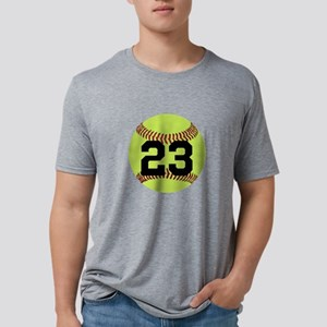 Softball Number Personalize Mens Tri-blend T-Shirt