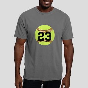 Softball Number Personal Mens Comfort Colors Shirt