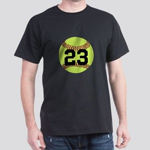 Softball Number Personalized Dark T-Shirt