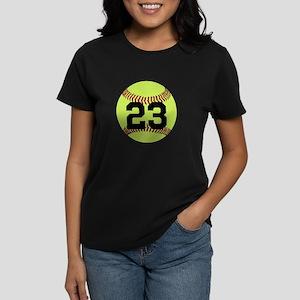 Softball Number Personalized Women's Dark T-Shirt