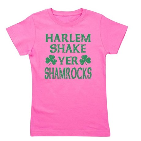 Harlem Shake Yer Shamrocks Distressed Irish Girl's